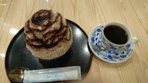 コーヒーの付いたかき氷セット